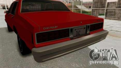 Chevrolet Caprice Classic 1986 v2.0 для GTA San Andreas вид сверху
