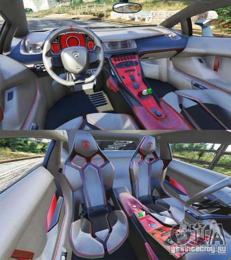 Lamborghini Veneno 2013 для GTA 5 вид сзади справа