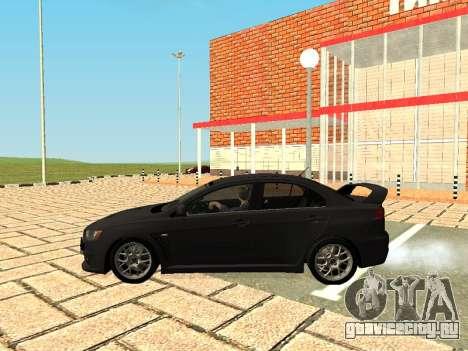 Mitsubishi Lancer Evolution X GVR Tuning для GTA San Andreas вид справа