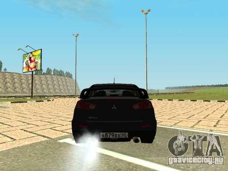 Mitsubishi Lancer Evolution X GVR Tuning для GTA San Andreas вид сзади слева