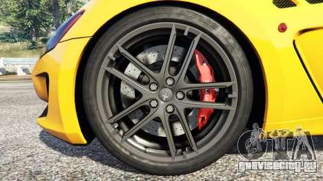 Maserati GranTurismo MC Stradale для GTA 5 руль и приборная панель