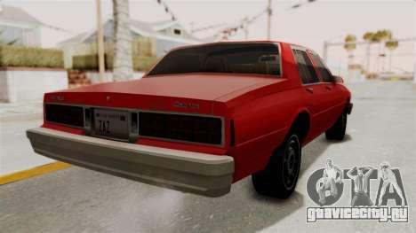 Chevrolet Caprice Classic 1986 v2.0 для GTA San Andreas вид справа