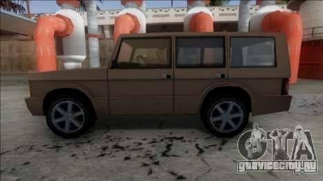 New Huntley для GTA San Andreas вид сзади слева