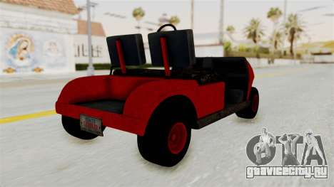 GTA 5 Gambler Caddy Golf Cart для GTA San Andreas вид слева