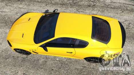 Maserati GranTurismo MC Stradale для GTA 5 вид сзади