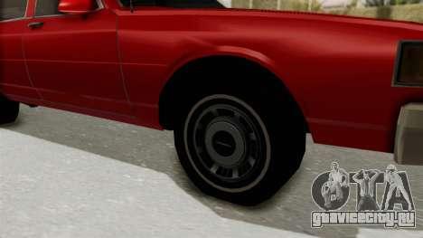 Chevrolet Caprice Classic 1986 v2.0 для GTA San Andreas вид сзади