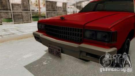 Chevrolet Caprice Classic 1986 v2.0 для GTA San Andreas вид изнутри