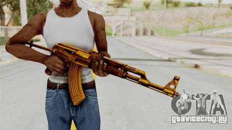 AK-47S Gold для GTA San Andreas третий скриншот
