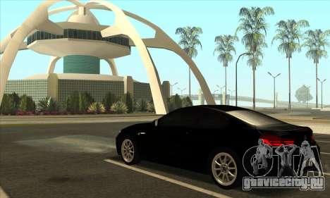 BMW M6 F13 Coupe для GTA San Andreas вид сбоку