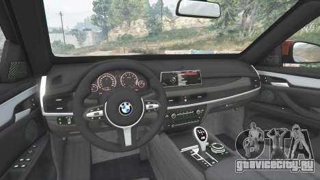 BMW X6 M (F16) v1.6 для GTA 5 вид сзади справа