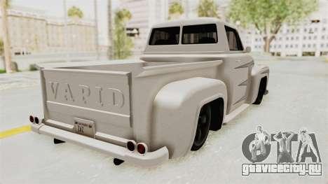 GTA 5 Slamvan Stock PJ1 для GTA San Andreas вид изнутри