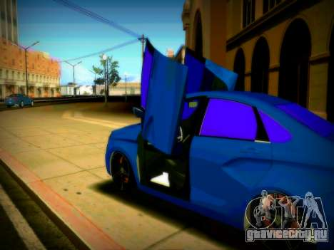 Lada Vesta Lambo для GTA San Andreas вид сзади