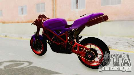 Ducati 1098 Nakedbike для GTA San Andreas вид сзади слева