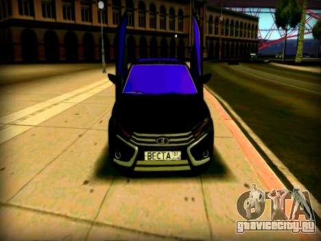 Lada Vesta Lambo для GTA San Andreas вид слева