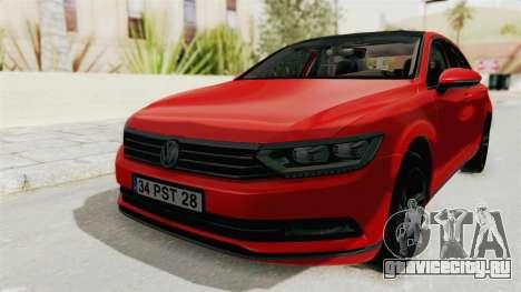 Volkswagen Passat B8 2016 Highline HQLM для GTA San Andreas вид справа