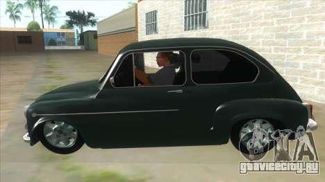 Fiat 600 для GTA San Andreas вид слева