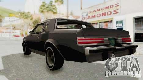 Buick Regal 1986 для GTA San Andreas вид сзади слева