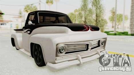 GTA 5 Slamvan Stock PJ1 для GTA San Andreas вид сзади слева