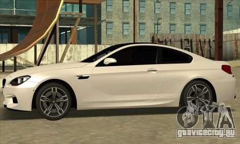 BMW M6 F13 Coupe для GTA San Andreas вид справа