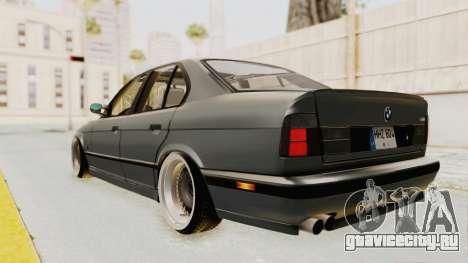 BMW M5 E34 USA для GTA San Andreas вид сзади слева