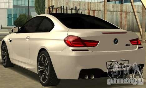 BMW M6 F13 Coupe для GTA San Andreas вид слева
