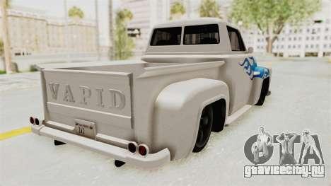 GTA 5 Slamvan Stock PJ1 для GTA San Andreas вид слева
