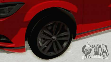Volkswagen Passat B8 2016 Highline HQLM для GTA San Andreas вид сзади