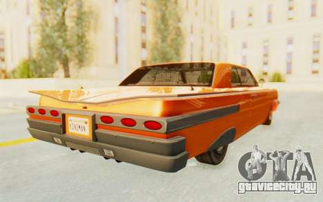 GTA 5 Declasse Voodoo Alternative v1 PJ для GTA San Andreas вид сзади слева