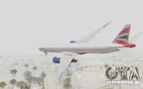 Boeing 777-300ER British Airways для GTA San Andreas вид слева