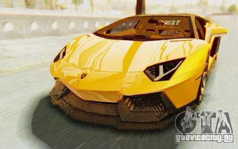 Lamborghini Aventador LP700-4 DMC для GTA San Andreas вид сбоку