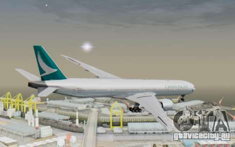 Boeing 777-300ER Cathay Pacific Airways v3 для GTA San Andreas вид справа
