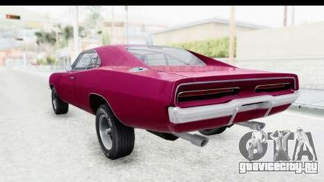 Dodge Charger 1969 Racing для GTA San Andreas вид слева