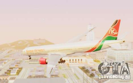 Boeing 777-300ER Kenya Airways для GTA San Andreas вид справа
