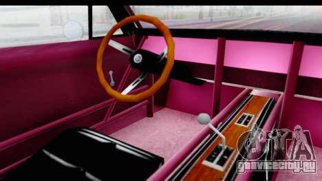 Dodge Charger 1969 Racing для GTA San Andreas вид изнутри