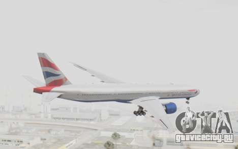 Boeing 777-300ER British Airways для GTA San Andreas вид справа
