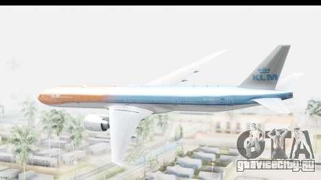 Boeing 777-300ER KLM Orange Pride для GTA San Andreas вид справа