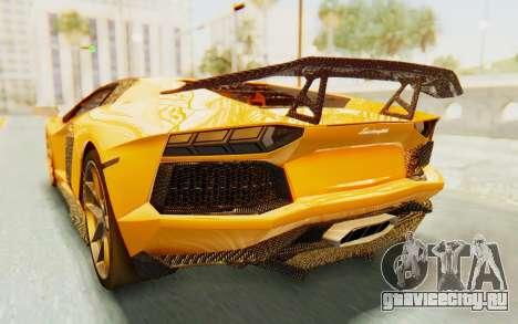 Lamborghini Aventador LP700-4 DMC для GTA San Andreas вид снизу