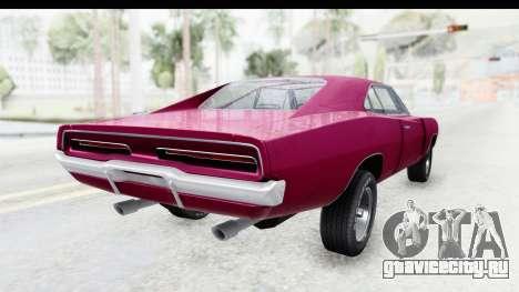 Dodge Charger 1969 Racing для GTA San Andreas вид справа