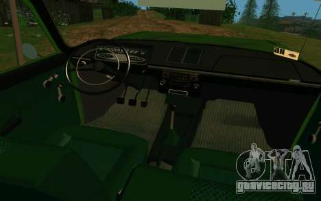 ИЖ-412 Комби для GTA San Andreas вид изнутри