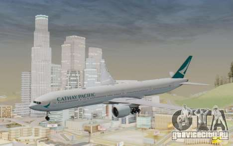 Boeing 777-300ER Cathay Pacific Airways v3 для GTA San Andreas