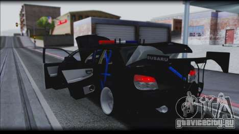 Subaru Impreza WRX STi Police Drift для GTA San Andreas вид сбоку