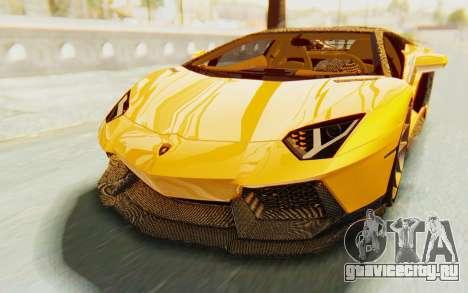 Lamborghini Aventador LP700-4 DMC для GTA San Andreas вид сверху