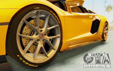 Lamborghini Aventador LP700-4 DMC для GTA San Andreas вид сзади