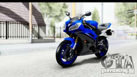 Yamaha YZF-R6 2006 with 2015 Livery для GTA San Andreas вид справа