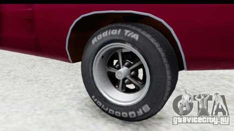 Dodge Charger 1969 Racing для GTA San Andreas вид сзади