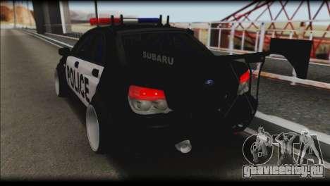 Subaru Impreza WRX STi Police Drift для GTA San Andreas вид слева