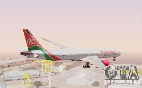Boeing 777-300ER Kenya Airways для GTA San Andreas вид слева
