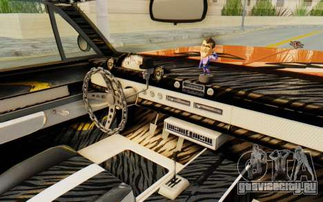 GTA 5 Declasse Voodoo Alternative v1 PJ для GTA San Andreas вид изнутри