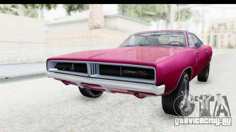 Dodge Charger 1969 Racing для GTA San Andreas вид сзади слева