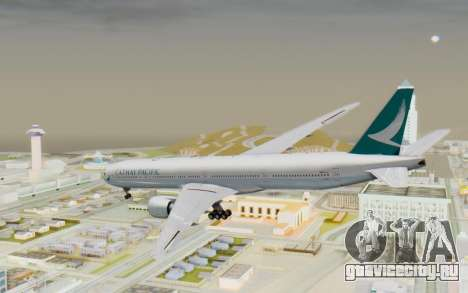 Boeing 777-300ER Cathay Pacific Airways v3 для GTA San Andreas вид слева
